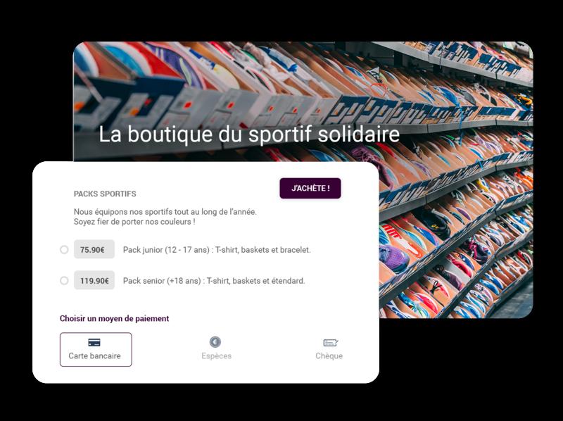Boutique en ligne pour association