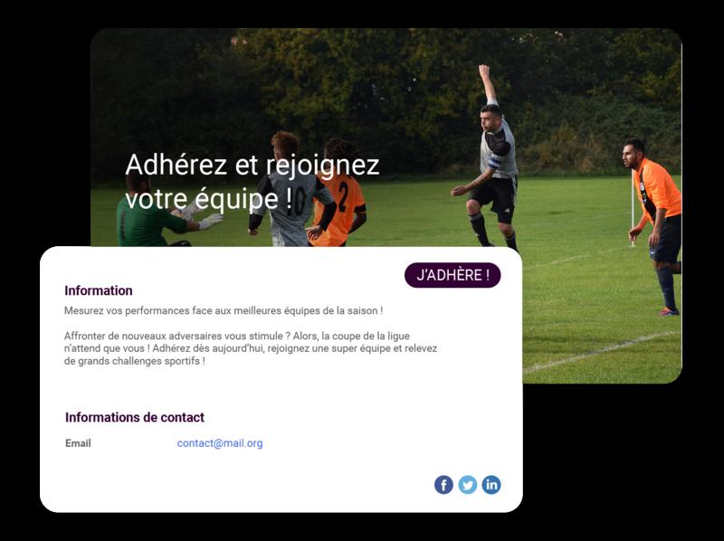 Gestion adhésions et cotisations club de football
