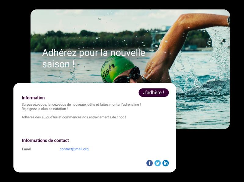 Logiciel club de natation