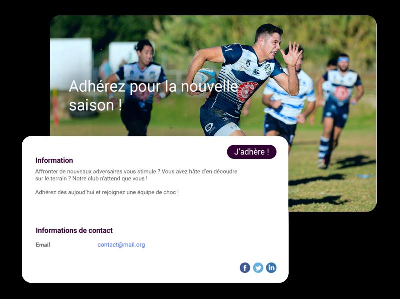 Logiciel club de rugby
