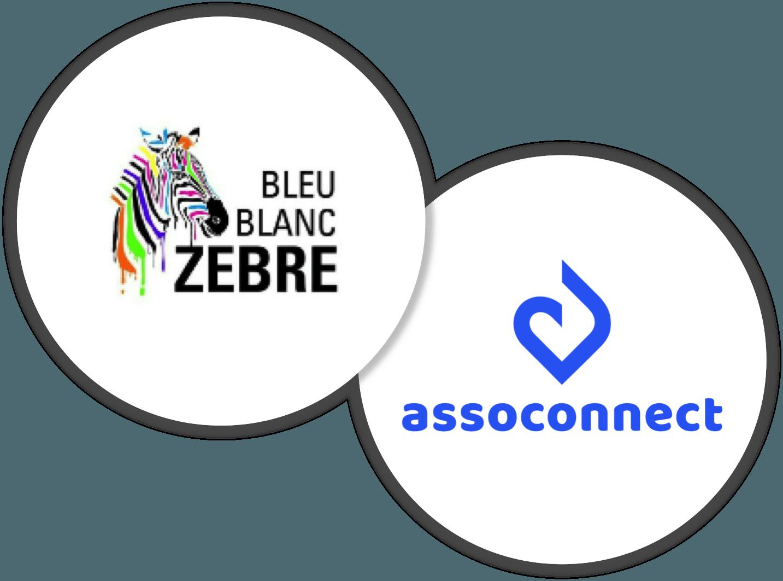 AssoConnect Bleu Blanc Zèbre