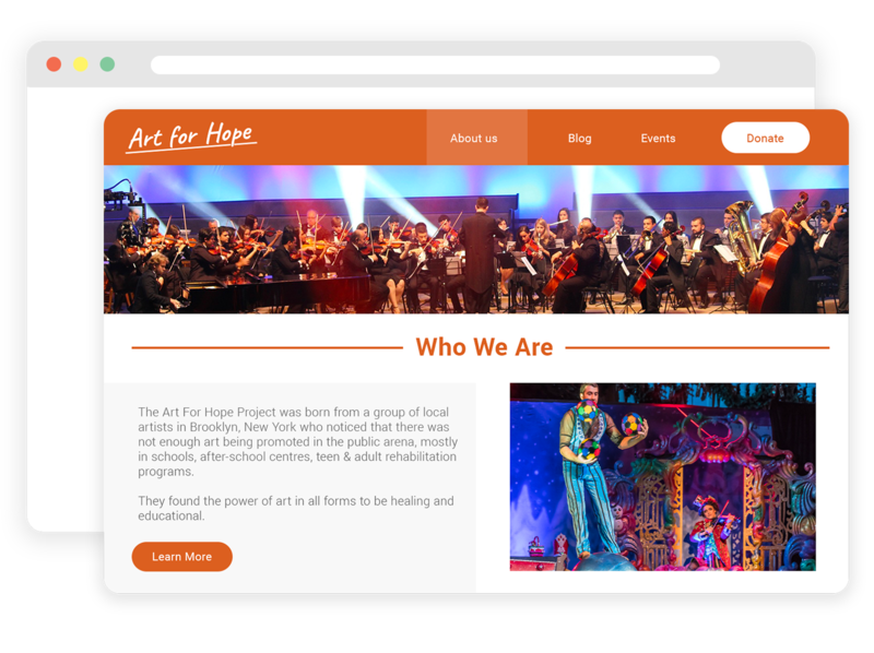 Free Website for Nonprofits General